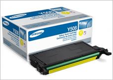 Прошивка и заправка картриджа Samsung CLT Y508S/SEE (желтый)
